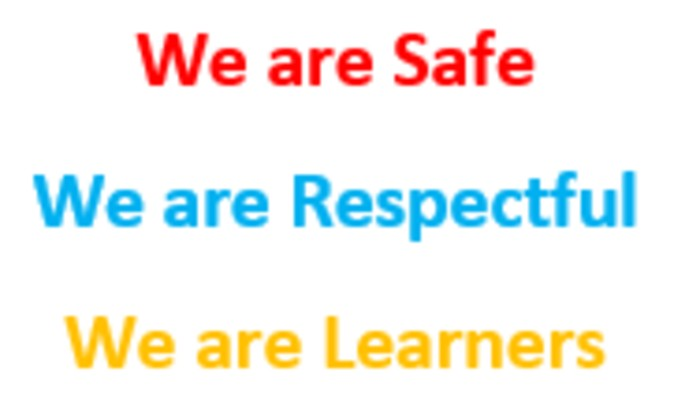 We are safe, respectful learners